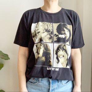 The Beatles Let It Bee Black T Shirt XL Cotton